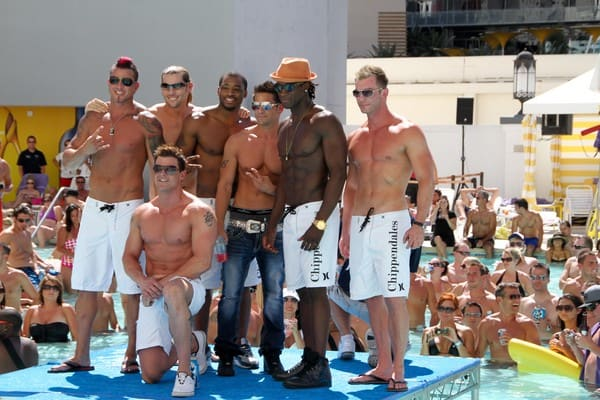 Jeff Timmons and The Chippendales Host a Bikini Contest at Pleasure Pool in Las Vegas, Nevada on August 6, 2011