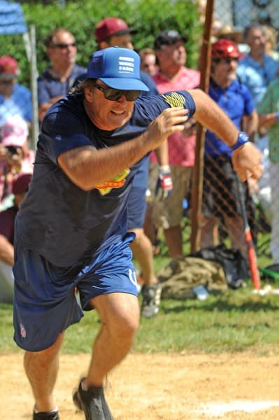 Alec Baldwin attends the 63rd annual Hamptons' Artists & Writers charity softball game at Herrick Park on August 20, 2011 in East Hampton, New York.