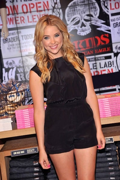 Actress Ashley Benson promotes Seventeen Magazine's September issue at the American Eagle Times Square Store on August 9, 2011 in New York City.