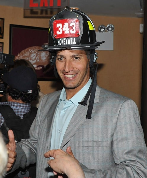 Andy Pettitte and David Tyree attend the 2011 World Police & Fire Games Family Night Dinner at Empire Steak House on August 30, 2011 in New York City.