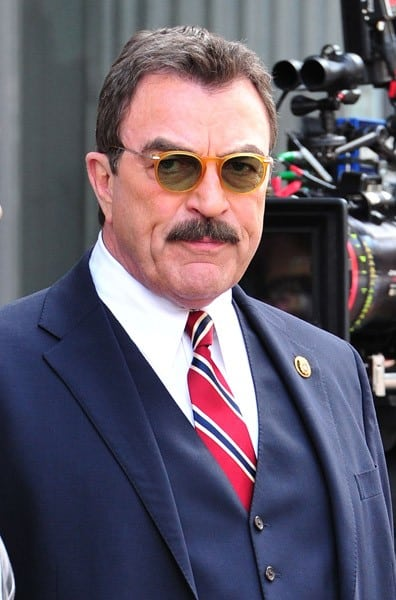 Tom Selleck films on location for 'Blue Bloods' on the streets of Manhattan on August 22, 2011 in New York City.