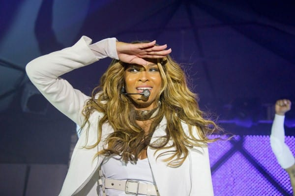 Musician Ciara performs during the 'Station Invasion Concert Tour' at the Beekman's At South Street Seaport, Pier 17 on August 4, 2011 in New York City.