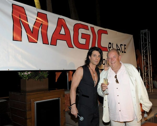Criss Angel celebrates the launch of MagicPlace.com at Bare pool lounge at The Mirage Hotel and Casino on August 15, 2011 in Las Vegas, Nevada.