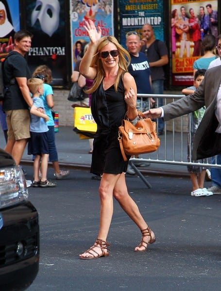 Television personality/Model Cat Deeley departs 'Late Show With David Letterman' at the Ed Sullivan Theater on August 2, 2011 in New York City.