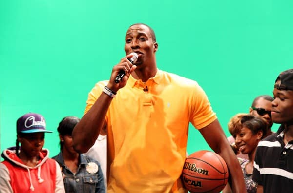 NBA player Dwight Howard visits BET's '106 & Park' on August 11, 2011 in New York, United States.