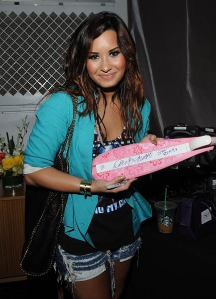 Singer/actress Demi Lovato at Backstage Creations Celebrity Retreat at Teen Choice 2011 - Day #1 at Gibson Amphitheatre on August 6, 2011 in Universal City, California.