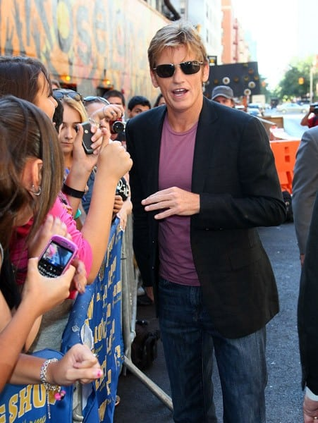 Denis Leary departs 'Late Show With David Letterman' at the Ed Sullivan Theater on August 22, 2011 in New York City.