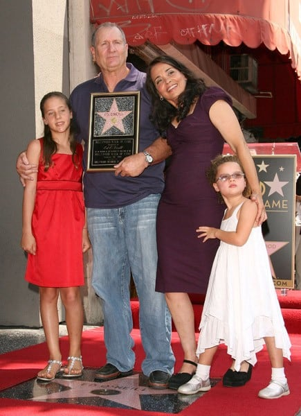 Actor Ed O'Neill and family attend the Ed O'Neill Hollywood Walk Of Fame Induction Ceremony on August 30, 2011 in Hollywood, California.