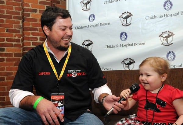 Red Sox pitcher Josh Beckett attends the Fifth Annual Beckett Bowl benefiting Children's Hospital Boston on August 29, 2011 in Boston, Massachusetts.