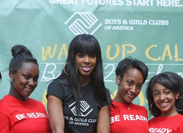 Recording artist Kelly Rowland attends the Back to School season kick-off in Union Square on August 4, 2011 in New York City.