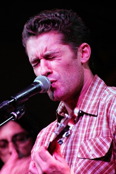 Musician Matthew Morrison performs at GRAMMY Camp's open mic night at Converse Rubber Tracks studio on August 2, 2011 in Brooklyn, New York.