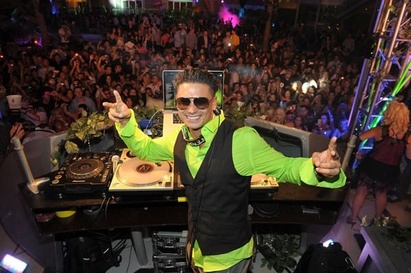 DJ Pauly D spins at 'A Midsummer Night's Dream - Enchanted Lingerie Masquerade' at Palms Casino Resort Palms Pool & Bungalows on August 13, 2011 in Las Vegas, Nevada.