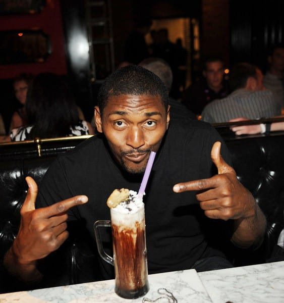 Ron Artest dines at Sugar Factory on August 6, 2011 in Las Vegas, Nevada.