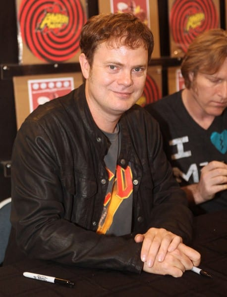 Actor Rainn Wilson signs copies of the DVD 'Super' at Amoeba Music on August 10, 2011 in Hollywood, California.