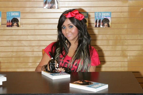 Nicole 'Snooki' Polizzi promotes 'A Shore Thing' at Barnes & Noble Paramus on August 13, 2011 in Paramus, New Jersey.