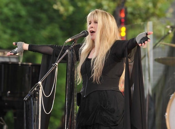 Stevie Nicks performs on ABC's 'Good Morning America' at Rumsey Playfield, Central Park on August 26, 2011 in New York City.