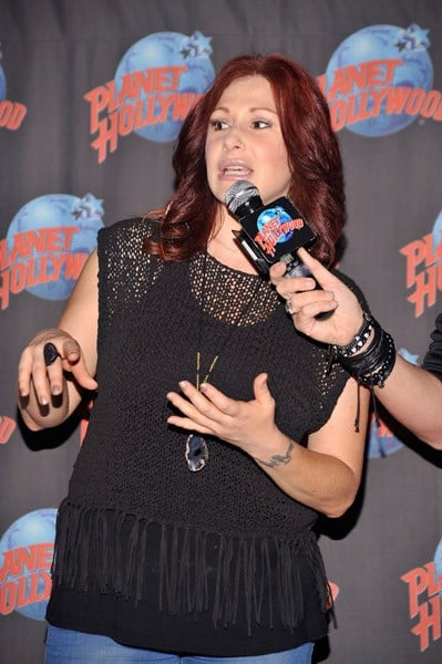 Singer Tiffany visits Planet Hollywood on August 1, 2011 in New York City.