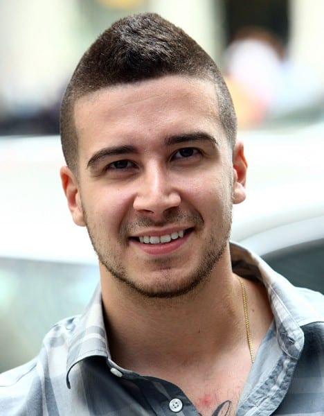 TV personality Vinny Guadagnino hosts 'Fresh To Death' makeover event at the Time Life Plaza on August 16, 2011 in New York City.