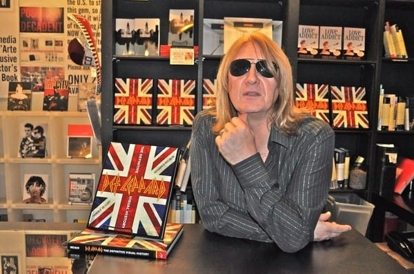 Joe Elliott and Rick Savage sign copies of 'Def Leppard: A Definitive Visual History' at Book Soup in West Hollywood, California on September 5, 2011
