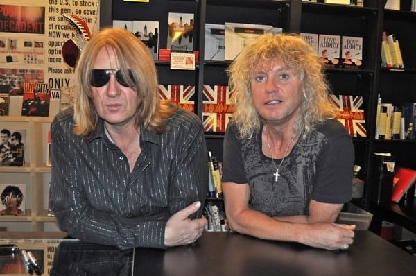 Joe Elliott and Rick Savage 'Def Leppard: A Definitive Visual History' Book Signing at Book Soup in West Hollywood, California on September 5, 2011