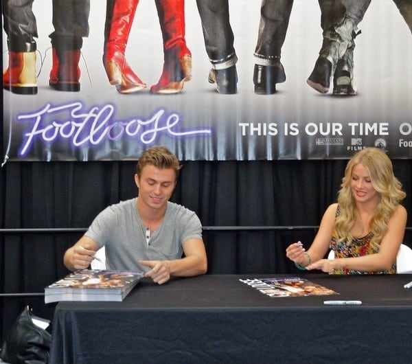 Julianne Hough and Kenny Wormald Host a 'Footloose' Autograph Signing and Q&A at the Hillsdale Mall in San Mateo, California on September 21, 2011