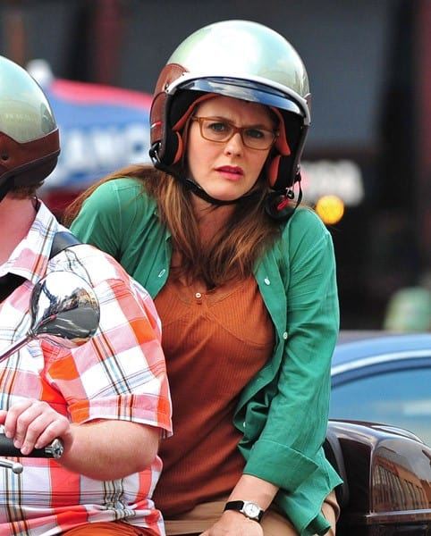 Alicia Silverstone filming on location for 'Gods Behaving Badly' on September 14, 2011 in New York City.