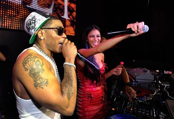 Recording artist Nelly and singer Nicole Scherzinger perform at the Chateau Nightclub & Gardens at the Paris Las Vegas on September 2, 2011 in Las Vegas, Nevada.