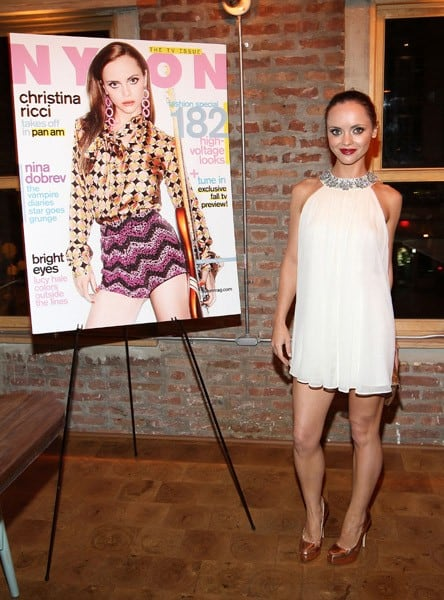 Christina Ricci attends her Nylon Magazine cover dinner at Catch on September 13, 2011 in New York City.