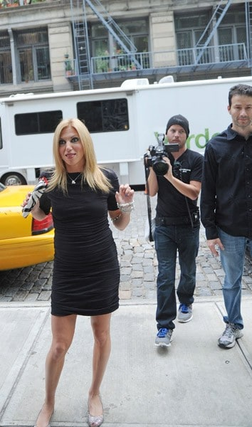 Debbie Gibson shops for a New York City apartment with Biography Channel's 'Celebrity House Hunting' on September 16, 2011 in New York City.