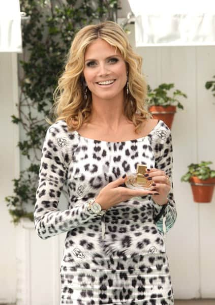 Heidi Klum Unveils Her New Signature Fragrance 'Shine' at the Mondrian Los Angeles on September 28, 2011 in West Hollywood, California.