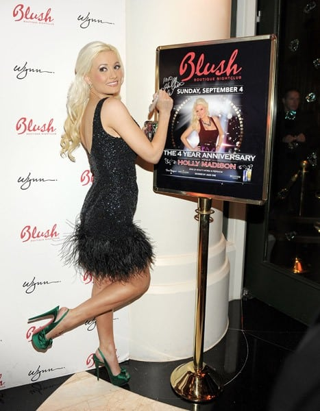 Holly Madison hosts the 4th anniversary celebration of Blush Boutique Nightclub at Wynn Las Vegas on September 4, 2011 in Las Vegas, Nevada.