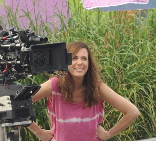 Kristen Wiig and Natasha Lyonne filming on location for 'Imogene' on September 14, 2011 in Keansburg, New Jersey.