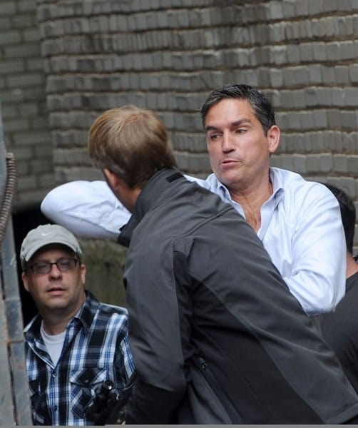 Jim Caviezel filming on location for 'Person of Interest' on September 28, 2011 in the Brooklyn borough of New York City.