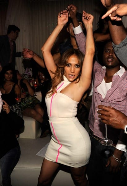 Jennifer Lopez makes special appearance at PURE Nightclub on September 24, 2011 in Las Vegas, Nevada.
