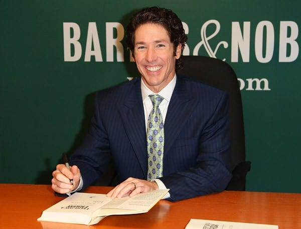 Author Joel Osteen promotes 'Every Day A Friday: How To Be Happier 7 Days A Week' at Barnes & Noble, 5th Avenue on September 14, 2011 in New York City.