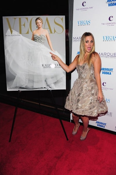 Actress Kaley Cuoco attends a VEGAS Magazine Celebration of her cover at the Boom Box Room inside the Marquee Nightclub & Dayclub at The Cosmopolitan of Las Vegas on September 24, 2011 in Las Vegas, Nevada.