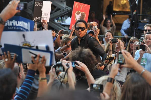 Lenny Kravitz performs on NBC's 'Today' at Rockefeller Plaza on September 2, 2011 in New York City.