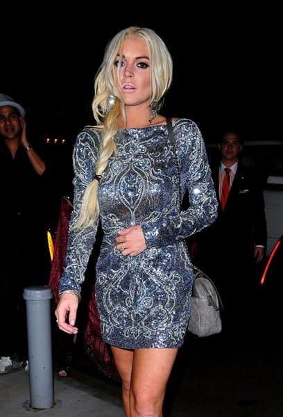 Lindsay Lohan arrives to The Mark on September 10, 2011 in New York City.
