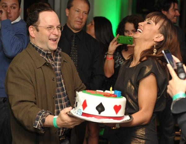 Jason Alexander and Karina Smirnoff attend 'Get Lucky For Lupus LA' event at Petersen Automotive Museum on September 22, 2011 in Los Angeles, California.