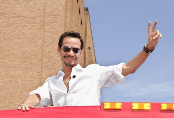 Marc Anthony is honored by Gray Line New York's 'Ride of Fame' campaign at Pier 78 on September 8, 2011 in New York City.