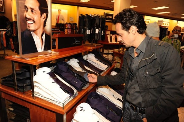 Marc Anthony attends the unveiling of his signature collection at Kohl's on September 7, 2011 in Jersey City, New Jersey.