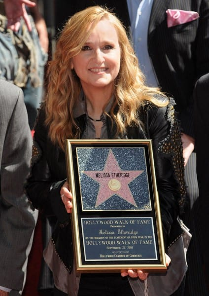 Melissa Etheridge attends her Hollywood Walk of Fame induction ceremony on September 27, 2011 in Hollywood, California.