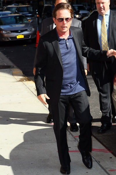 Actor Michael J. Fox arrives to 'Late Show With David Letterman' at the Ed Sullivan Theater on September 8, 2011 in New York City.