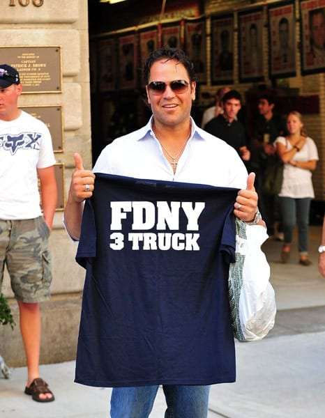 Mike Piazza is seen on the streets of Manhattan on September 9, 2011 in New York City.