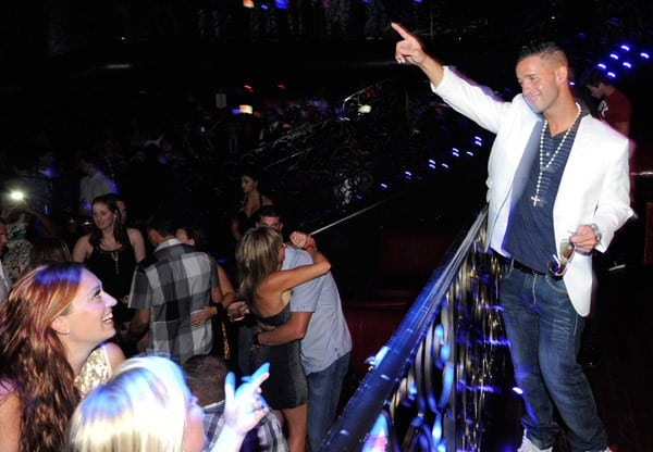 Television personality Mike 'The Situation' Sorrentino celebrates Labor Day at the LAX Nightclub at the Luxor Resort & Casino early on September 4, 2011 in Las Vegas, Nevada.