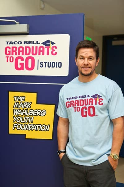 Actor/singer Mark Wahlberg hosts the Taco Bell Foundation for Teens 'Graduate to Go Studios' launch at Boys & Girls Clubs of LA on August 31, 2011 in Los Angeles, California.