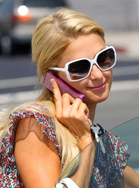 Paris Hilton is seen in Beverly Hills on September 15, 2011 in Los Angeles, California.