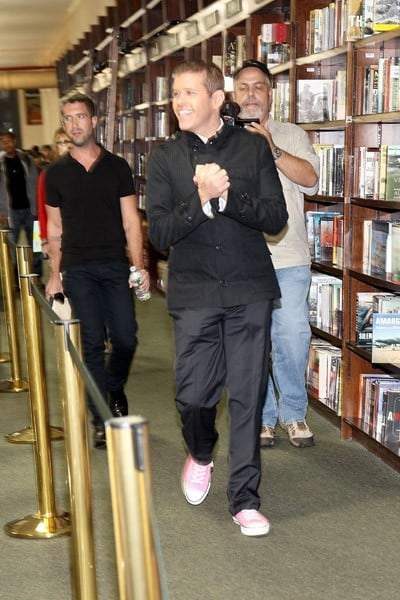 Perez Hilton promotes 'The Boy With Pink Hair' at the Barnes & Noble Union Square on September 6, 2011 in New York City.