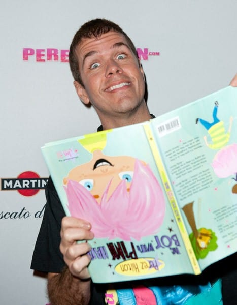 Perez Hilton greets fans and signs copies of his book 'The Boy With The Pink Hair' at Eden Roc, a Renaissance Beach Resort and Spa, on September 16, 2011 in Miami Beach, Florida.