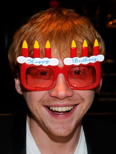 Actor Rupert Grint dines at the Sugar Factory American Brasserie at the Paris Las Vegas on September 17, 2011 in Las Vegas, Nevada.